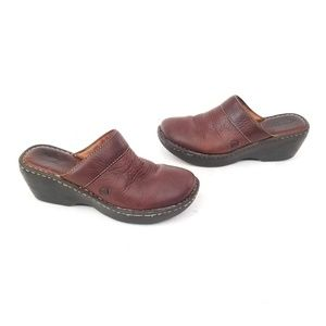 Born Leather Mules - Size 8 / EUR 39